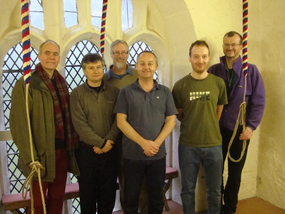 Left to right, Richard Wheelhouse, Alan Gould, Chris Wright, Jeremy Knowles, Keven Haseldine, Allan Gould
